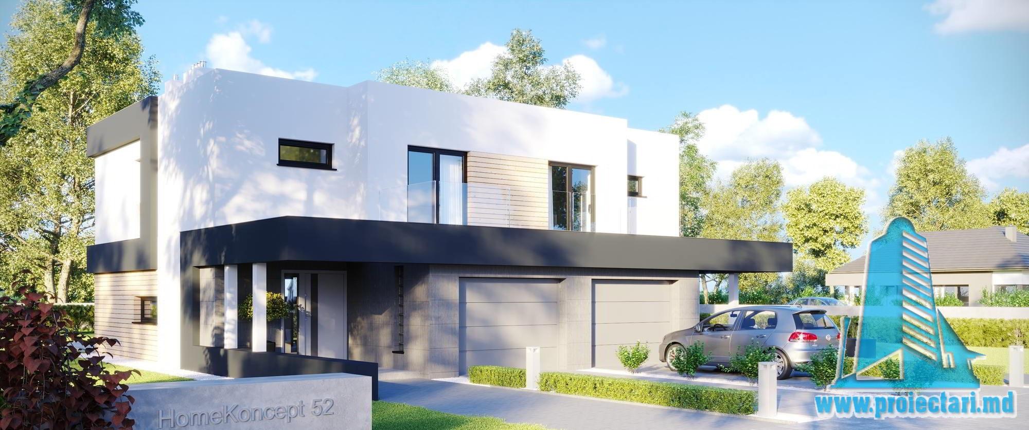 Casa duplex cu parter, etaj si garaj pentru un automobil-154-101014