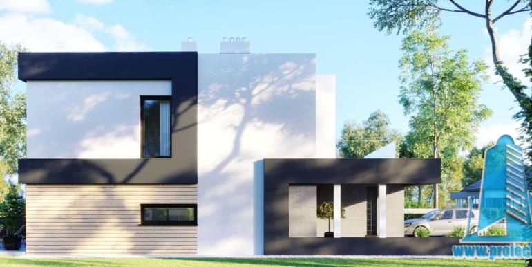 Casa duplex cu parter, etaj si garaj pentru un automobil