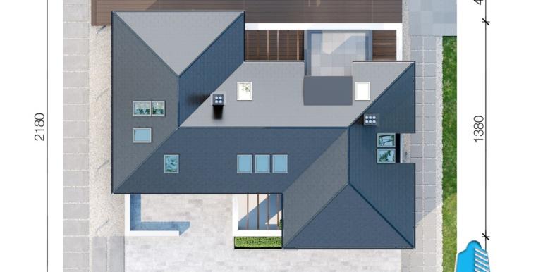 Casa cu parter, manasarda si garaj pentru 2 automobile