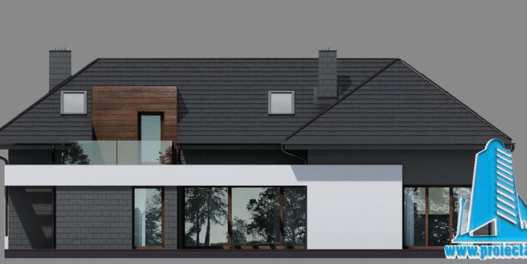 fatada casa cu parter, manasarda si garaj pentru 2 automobile