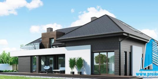 Casa cu parter, manasarda si garaj pentru 2 automobile-347m2-101011