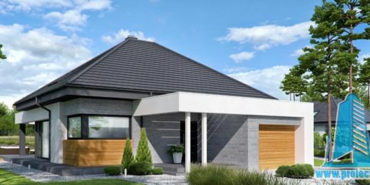 Casa Cu Parter Si Mansarda Si Garaj Pentru Un Automobil– 148 m2 – 100994