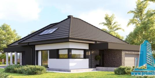 Casa cu parter si garaj pentru doua automobile– 205 m2 – 100995