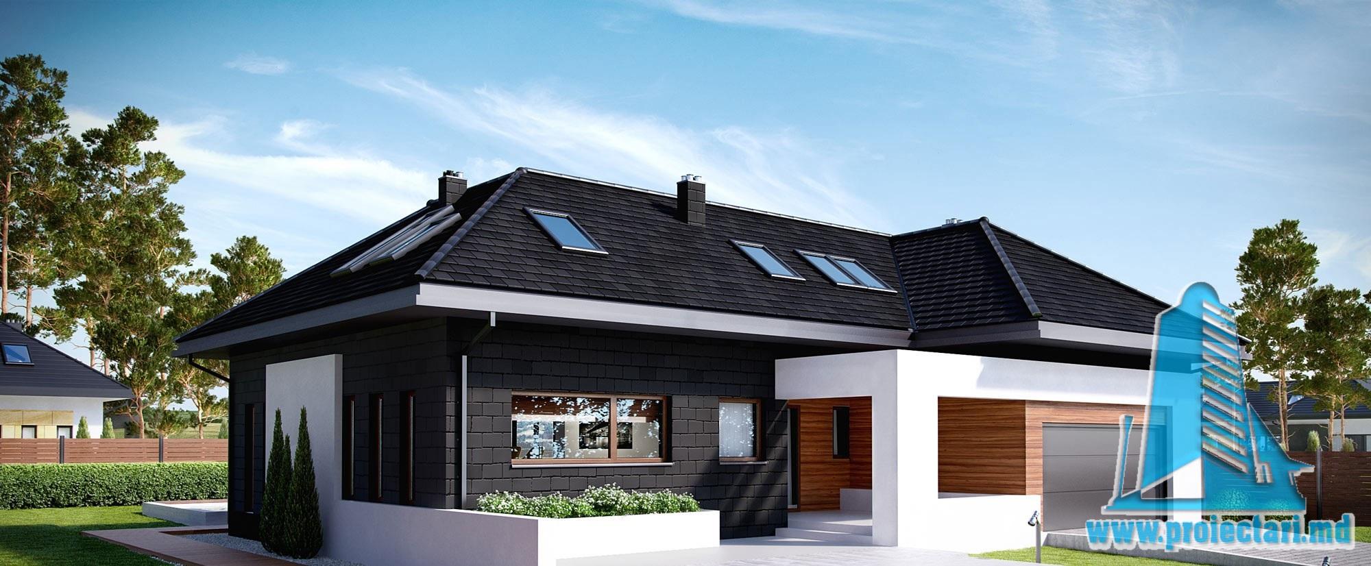 Casa Cu Parter Si Mansarda Si Garaj Pentru Doua Automobile– 389 m2 – 101001