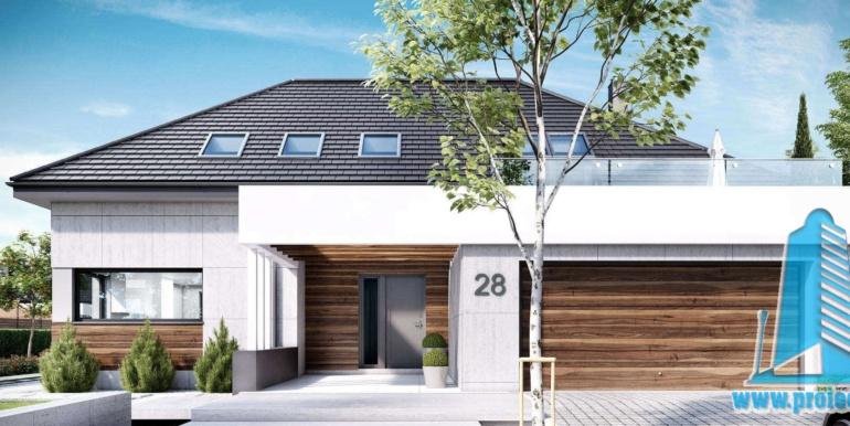 Casa cu parter, mansarda si garaj pentru doua automobile