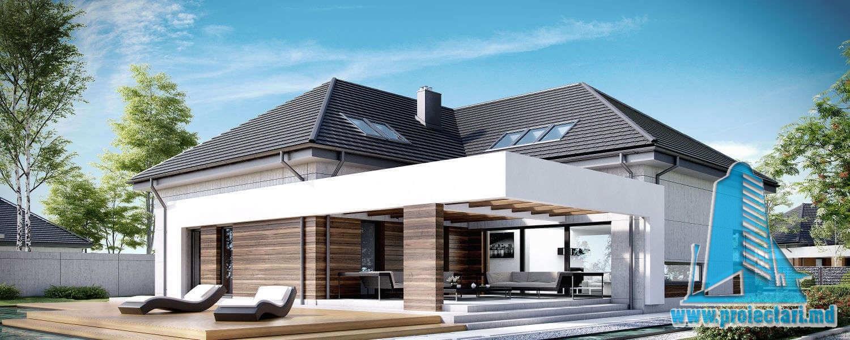 Casa cu parter, mansarda si garaj pentru doua automobile-500 m2-101017