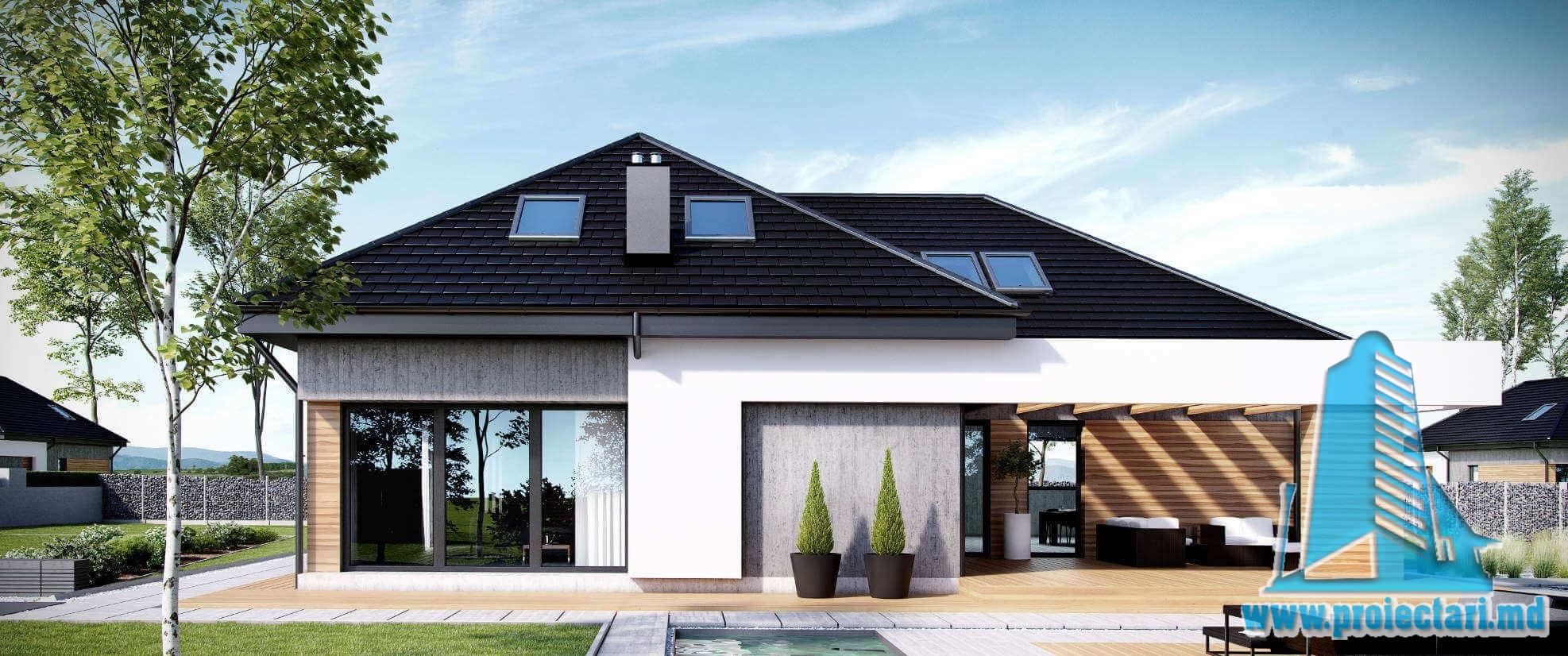 Casa cu parter, mansarda si garaj pentru doua automobile-431 m2-101031