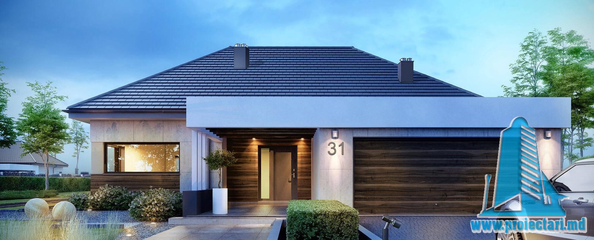Casa cu parter si garaj pentru doua automobile– 221 m2 – 101010