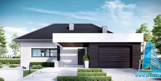Casa cu parter si garaj pentru un automobil-190m2-101025