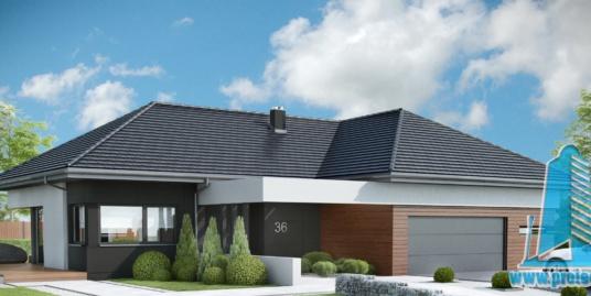 Casa Cu Parter Si Garaj Pentru Doua Automobile– 205 m2 – 101000