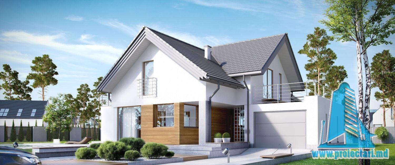 Casa cu parter, mansarda si garaj pentru un automobil-301 m2-101024