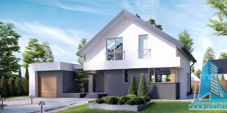 Casa cu parter, mansarda si garaj pentru un automobil