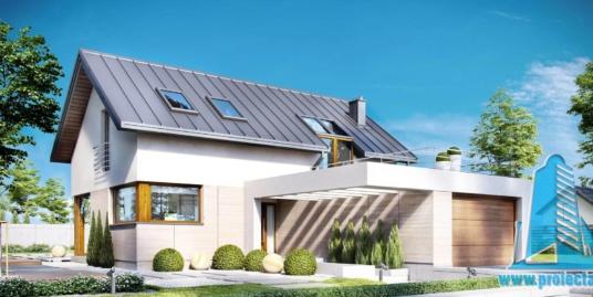 Casa cu parter,mansarda si garaj pentru un automobil-266m2-101045