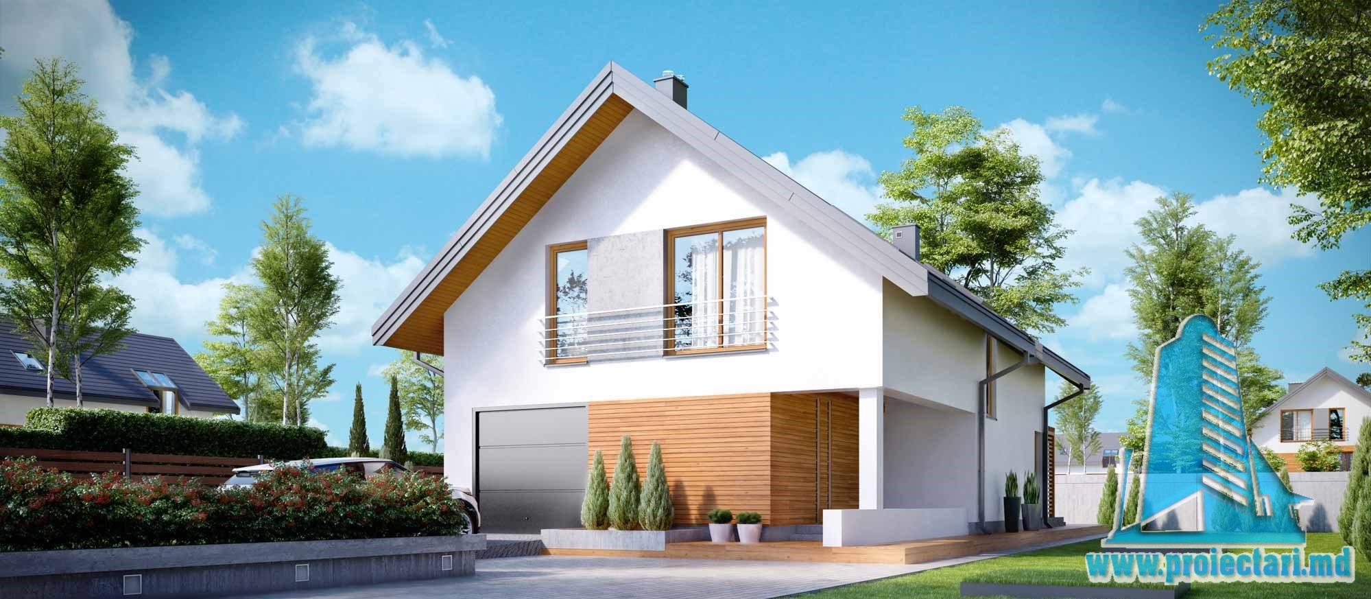 Casa cu parter, mansarda si garaj pentru un automobil-248 m2-101049
