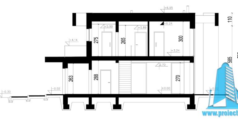 Casa cu parter, etaj si garaj pentru un automobil