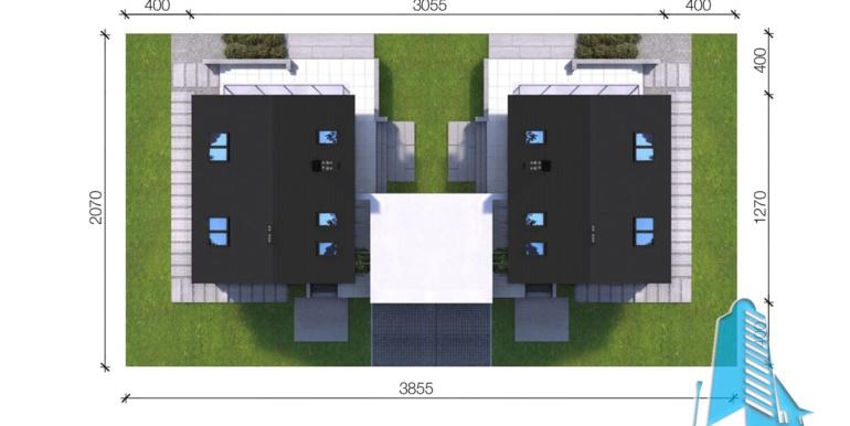 Casa duplex cu parter, mansarda si garaj pentru un automobil