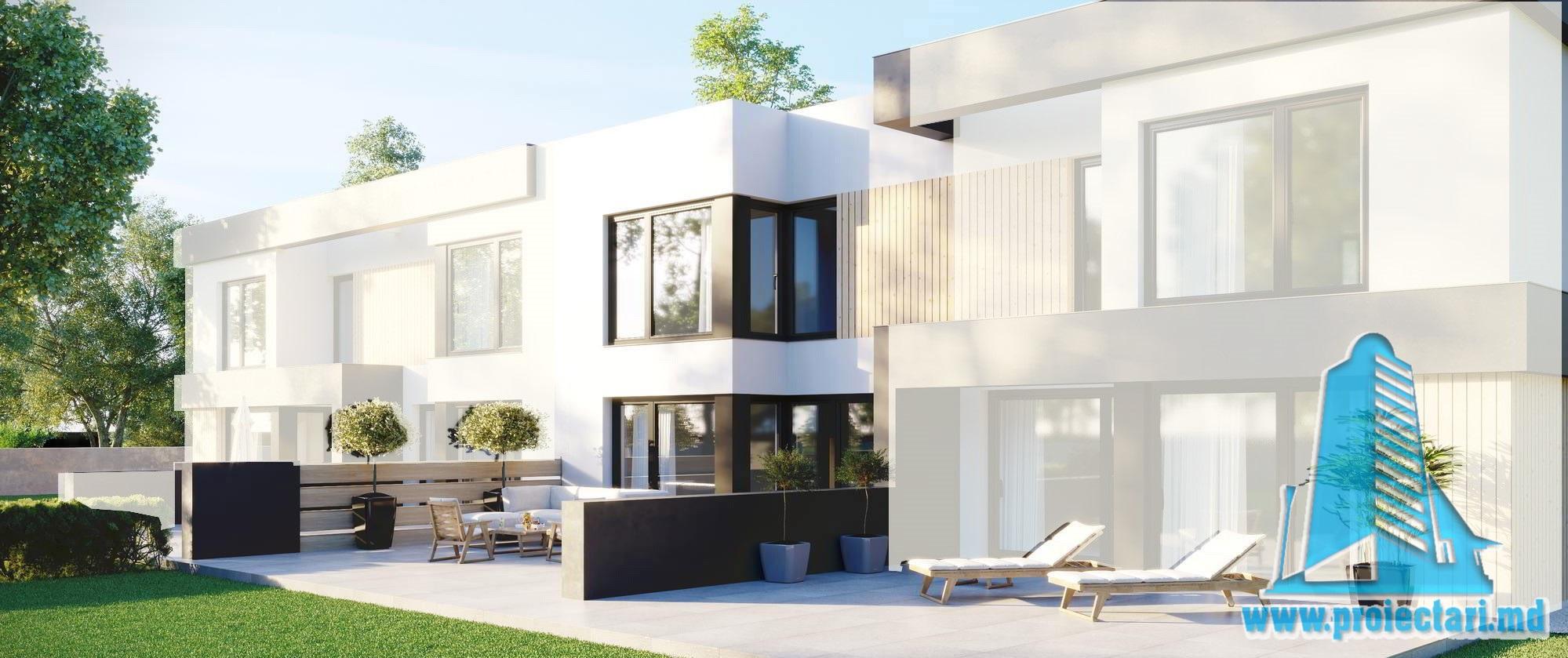 Casa cu parter, etaj si garaj pentru un automobil-94m2-101040