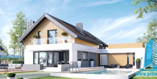 Casa cu parter mansarda si garaj pentru 2 automobile-376 m2-101043