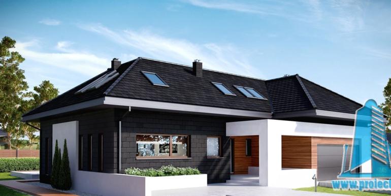 Casa cu parter, mansatrda si garaj pentru 2 automobile