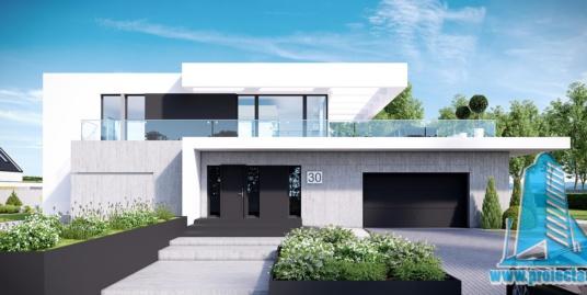 Casa cu parter, etaj si garaj pentru doua automobile- 361 m2 – 101034