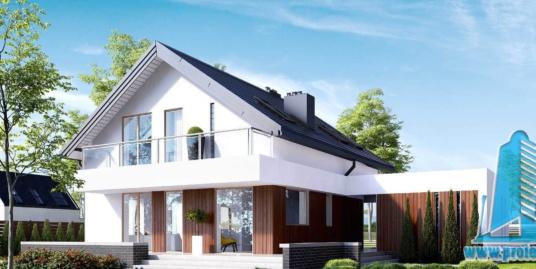 Casa cu parter, mansarda si garaj pentru un automobil-229 m2-101035