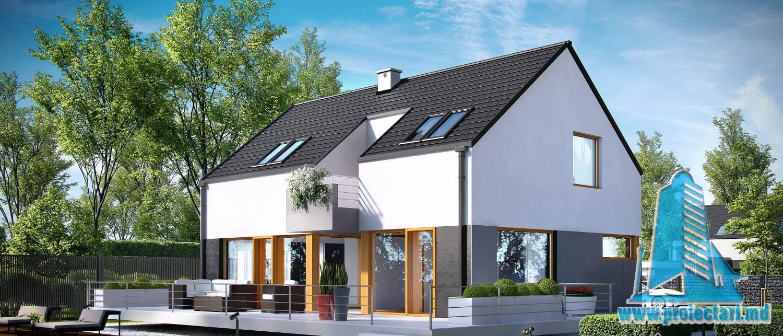 Casa cu parter, mansarda si garaj pentru un automobil-203 m2-101053