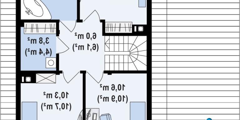 Parter Proiect de casa cu doua etaje si facura lemnoasa si garaj pentru doua automobile