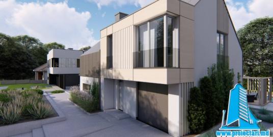 Casa cu parter, etaj si garaj pentru 1 automobil-230m2-101066