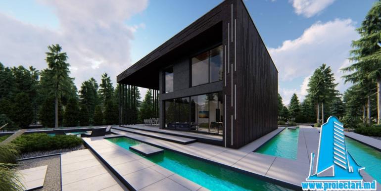 Proiect de casa cu doua etaje minimalist