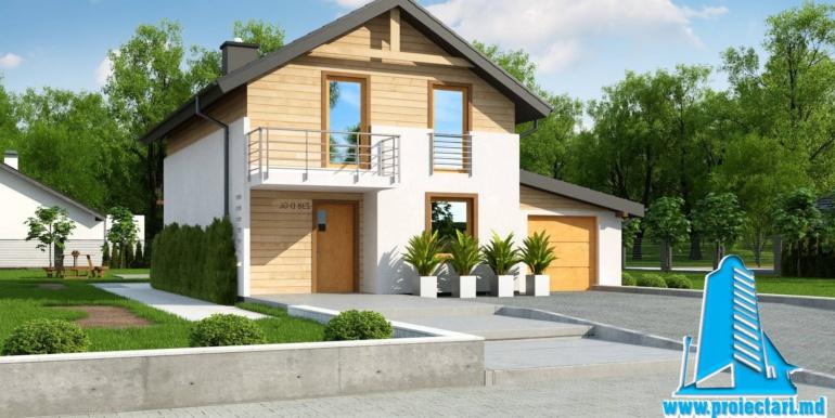 Proiect de casa cu doua etaje si facura lemnoasa