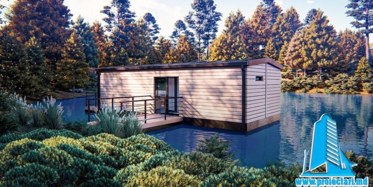 Podet proiect de casa de vacanta pe lac