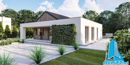 Proiect Casa cu parter si piscina 144m2  – 101075