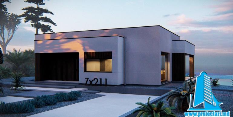 Proiect de casa cu parter si acoperis plat