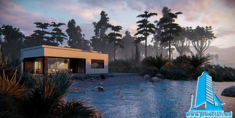 casa cu parter pe lac