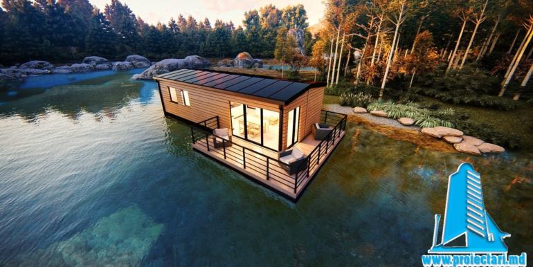 terasa proiect de casa de vacanta pe lac
