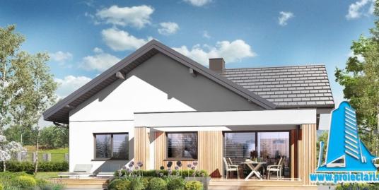 Proiect Casa cu parter garaj pentru doua automobile si piscina 190m2  – 101087