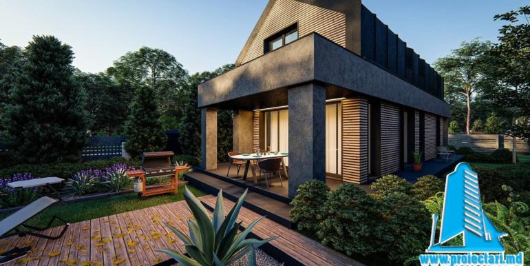 терасса Proiect de casa cu mansarda