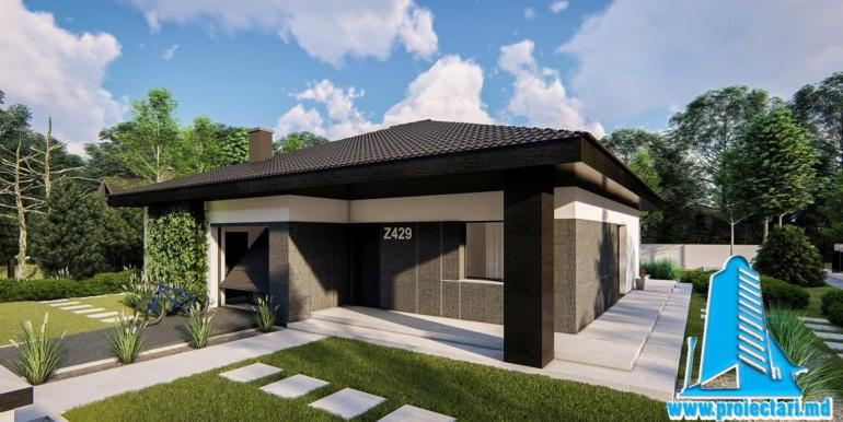 casa de locuit cu parter, terasa, bazin si garaj pentru un automobil2