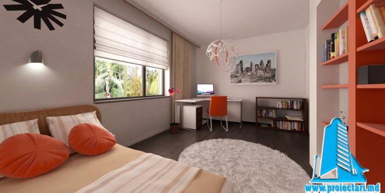 design dormitor cu masa de lucru