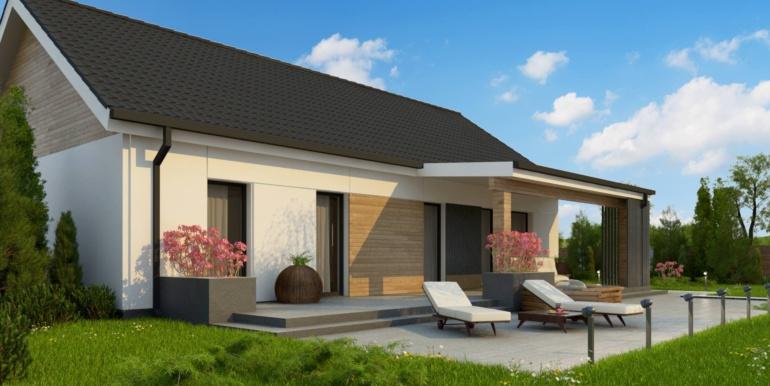 gradina proiect de casa cu un etaj