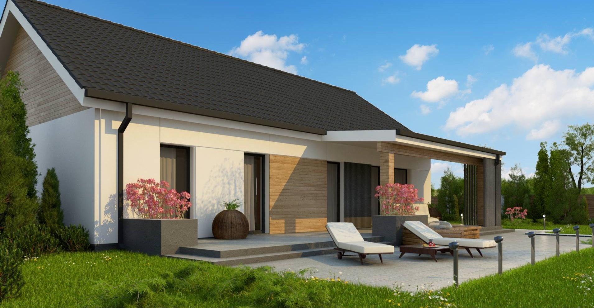 Proiect Casa cu parter si piscina 140m2  – 101081