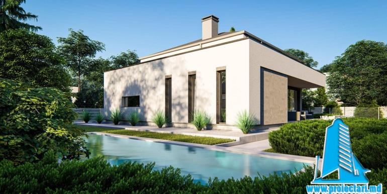 landshaft design casa de locuit cu mansarda