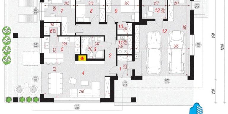 plan parter casa cu un etaj