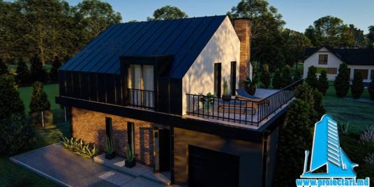 Proiect Casa cu parter si mansarda  si piscina 246m2 – 101089