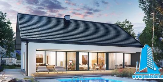 Proiect Casa cu parter  si piscina 145m2  – 101092