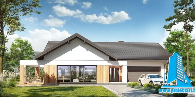 proiect de casa mare cu parter si garaj pentru doua automobile