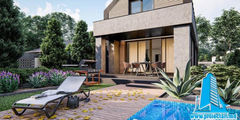 terasa proiect de casa cu mansarda