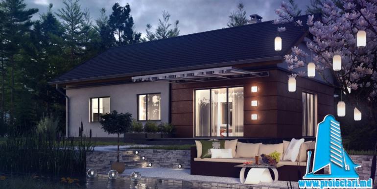 terasa proiect de casa cu parter