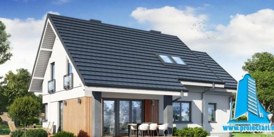 Proiect Casa cu mansarda 206m2 – 101117