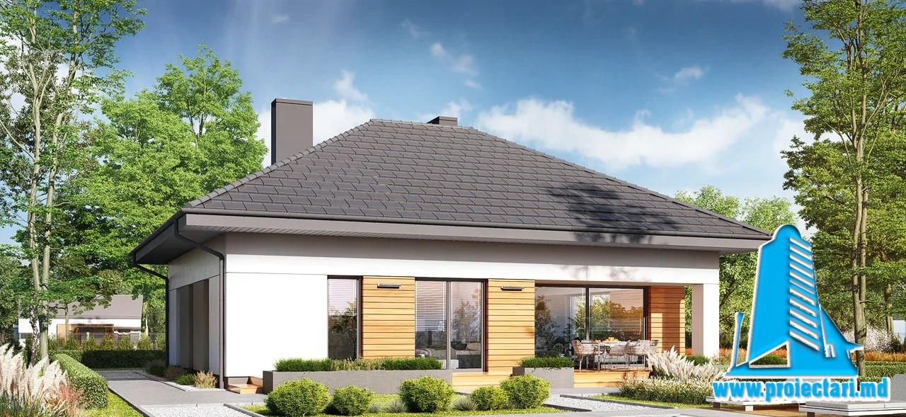 Proiect Casa cu mansarda 156,5m2 – 101119